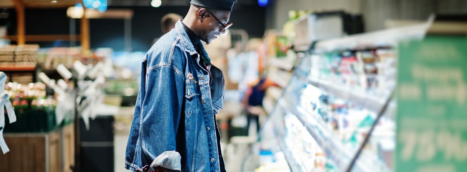 The Power of Habits - Episode 1 Banner - Watching Behaviour of a man looking at items in store.